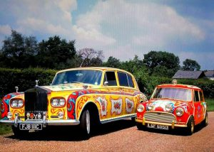 John Lennon's R.R. with George Harrison's Mini
