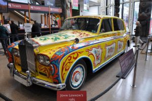 JohnLennonRollsOnly John Lennon could transform a 1965 Rolls-Royce Phantom V the ultimate expression of prestige and wealth -- into an anti-establishment psychedelic yellow submarine